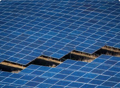 solar panels spanning a field