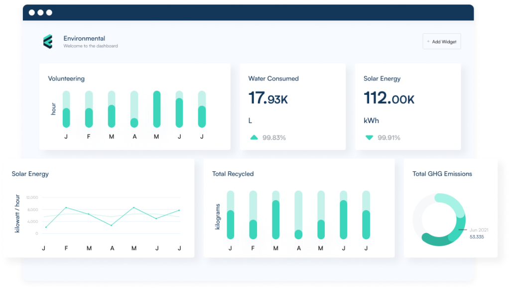 dashboard illustration of Figbytes software reporting