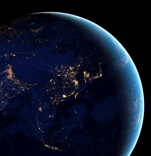 space shot of planet earth